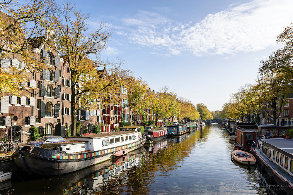 The canals of Amsterdam, the Netherlands.
