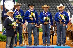 Team USA, Casey Deary, Cade Mccutcheon, Daniel L Huss, Jordan Larson, <br /> World Equestrian Games - Tryon 2018<br /> © Hippo Foto - Dirk Caremans<br /> 12/09/2018