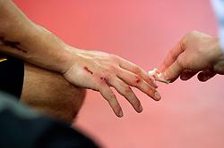 LEIZPIG - WC HOCKEY INDOOR 2015<br /> AUT v GER (Pool A)<br /> Foto: hand care.<br /> FFU PRESS AGENCY COPYRIGHT FRANK UIJLENBROEK