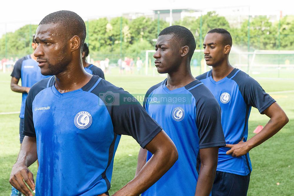 June 22, 2017 - Gent, BELGIUM - Gent's Mamadou Sylla Diallo, Gent's new player Koita and Gent's new player Inbrum pictured during the first training session for the new 2017-2018 season of Jupiler Pro League team KAA Gent, in Gent, Thursday 22 June 2017. BELGA PHOTO JAMES ARTHUR GEKIERE (Credit Image: © James Arthur Gekiere/Belga via ZUMA Press)