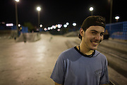 Cildern of foreign residents play  in local skate park and playground late  into the evening