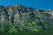 Limestone layers in Kananaskis Country<br /> Kananaskis Country<br /> Alberta<br /> Canada