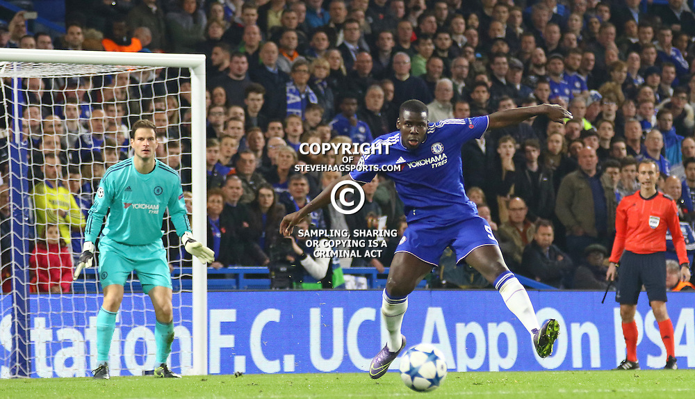 LONDON, ENGLAND - NOVEMBER 04: Radamel Falcao of Chelsea clears the ball during the Champions League match between Chelsea and Dynamo Kyiv at Stamford Bridge on November 04, 2015 in London, United Kingdom. (Photo by Mitchell Gunn/Getty Images) *** Local Caption ***Radamel Falcao