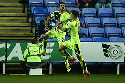Goal, Nahki Wells of Huddersfield Town scores, Reading 1-2 Huddersfield Town - Mandatory byline: Jason Brown/JMP - 07966 386802 - 03/11/2015- FOOTBALL - Madejski Stadium - Reading, England - Reading v Huddersfield Town - Sky Bet Championship