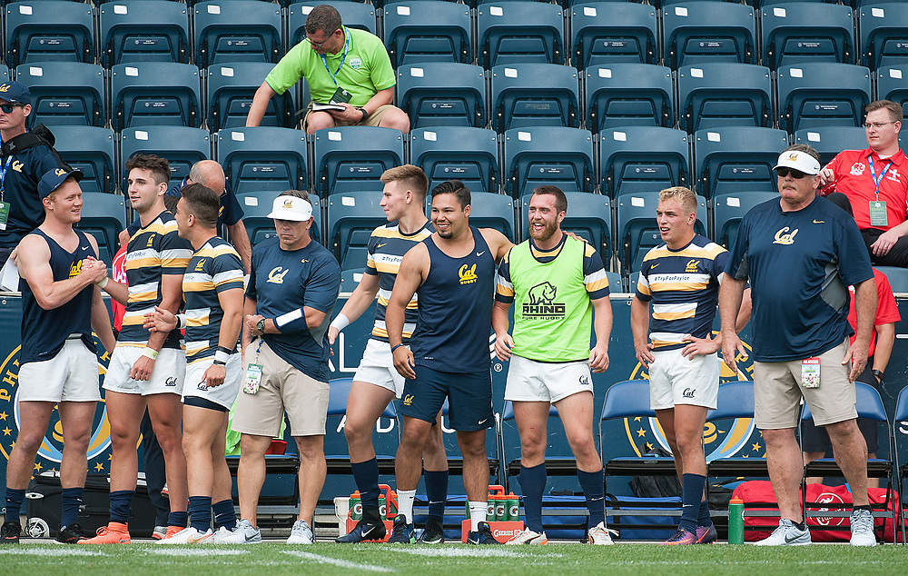 Teams compete in knockout play of the 2017 Penn Mutual Collegiate Rugby Championship at Talen Energy Stadium in Philadelphia. June 4, 2017. <br /> <br /> By Jack Megaw.<br /> <br /> www.jackmegaw.com<br /> <br /> jack@jackmegaw.com<br /> @jackmegawphoto<br /> [US] +1 610.764.3094<br /> [UK] +44 07481 764811