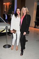 Left to right, LAUREN KEMP and TINA HOBLEY at a VIP dinner hosted by Maserati following the unveiling of the new Maserati 'Quattroporte' at The Hurlingham Club, London on 17th April 2013.