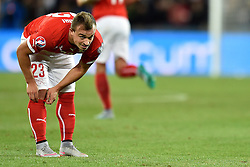 05.09.2015, St. Jakob Park, Basel, SUI, UEFA Euro 2016 Qualifikation, Schweiz vs Slowenien, Gruppe E, im Bild Xherdan Shaqiri (SUI) // during the UEFA EURO 2016 qualifier group E match between Switzerland and Slovenia at the St. Jakob Park in Basel, Switzerland on 2015/09/05. EXPA Pictures © 2015, PhotoCredit: EXPA/ Freshfocus/ Urs Lindt<br /> <br /> *****ATTENTION - for AUT, SLO, CRO, SRB, BIH, MAZ only*****