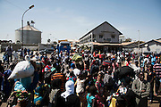 BANJUL, GAMBIA - JAN 22: People drop off from a ferry into Banjul as they come back to normal life after former president Jammeh left the country after 22 years in power, on January 22, 2017 in Banjul, Gambia. AFP PHOTO / STRINGER