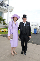 The EARL & COUNTESS DE LA WARR at the Investec Derby 2013 held at Epsom Racecourse, Epsom, Surrey on 1st June 2013.