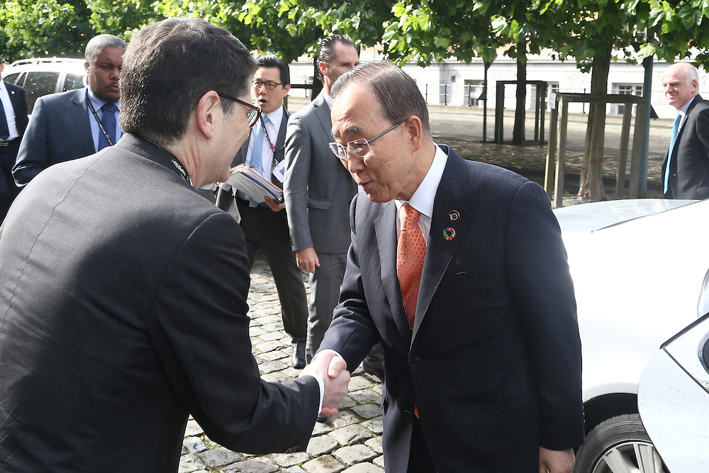 20160615 - Brussels , Belgium - 2016 June 15th - European Development Days - Bilateral Meeting <br /> Ban Ki-Moon, Secretary General, United Nations<br /> © European Union