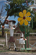 Metal Folk art in northern New Mexico