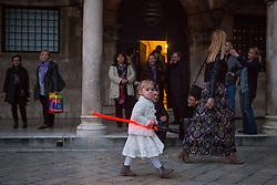 11.03.2016, Dubrovnik, CRO, Star Wars, Drehort Dubrovnik, im Bild Set Szenerie für den neuen Star Wars Film // Scenography at Stradun street for new movie Star Wars Dubrovnik, Croatia on 2016/03/11. EXPA Pictures © 2016, PhotoCredit: EXPA/ Pixsell/ Grgo Jelavic<br /> <br /> *****ATTENTION - for AUT, SLO, SUI, SWE, ITA, FRA only*****