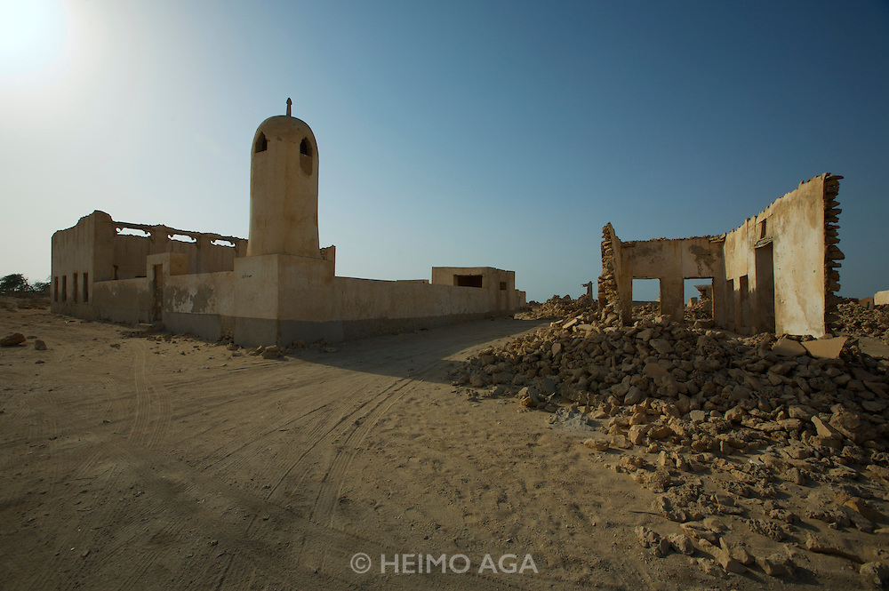 Ghost town Al-Jumail. Ruins of a mosque.