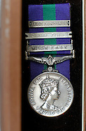 UK. London. Suez medal belonging to Suez Veteran, Jim Worron..Photo©Steve Forrest /Workers Photos