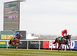 SPRINTER SACRE (Barry Geraghty) beats CUE CARD in The John Smith's Melling Chase at Aintree from Cue Card, Aintree Racecourse, Aintree, Merseyside, England. April 5, 2013. Photo by Racingfotos.com / i-Images...