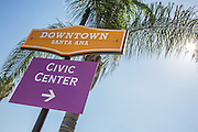 Downtown Santa Ana and Civic Center Sign