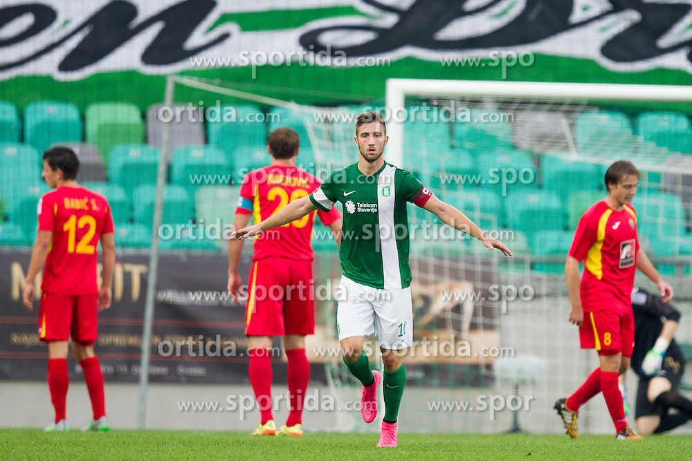 Andraz Sporar #10 of NK Olimpija Ljubljana during football match between NK Olimpija Ljubljana and NK Rudar Velenje in 8th Round of Prva liga Telekom Slovenije 2015/16, on August 30, 2015 in SRC Stozice, Ljubljana, Slovenia. Photo by Urban Urbanc / Sportida