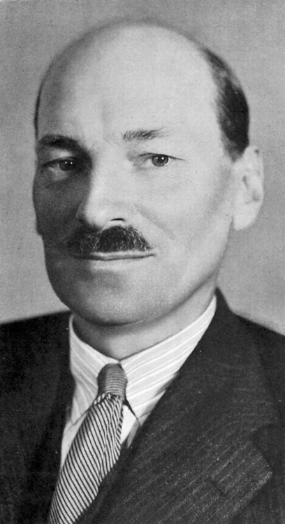 Clement Atlee (1883-1967) British Labour statesman; Deputy prime minister in wartime cabinet under Churchill (1842-1945); prime minister 1945-1951. Member of Parliamnet for Limehouse