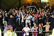 August 9th 2017, Dens Park, Dundee, Scotland; Scottish League Cup Second Round; Dundee versus Dundee United; Dundee fans at the end