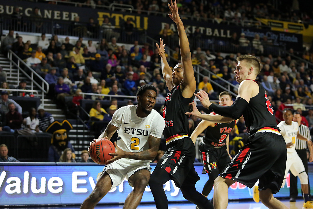 January 13, 2018 - Johnson City, Tennessee - Freedom Hall: ETSU forward David Burrell (2)<br /> <br /> Image Credit: Dakota Hamilton/ETSU