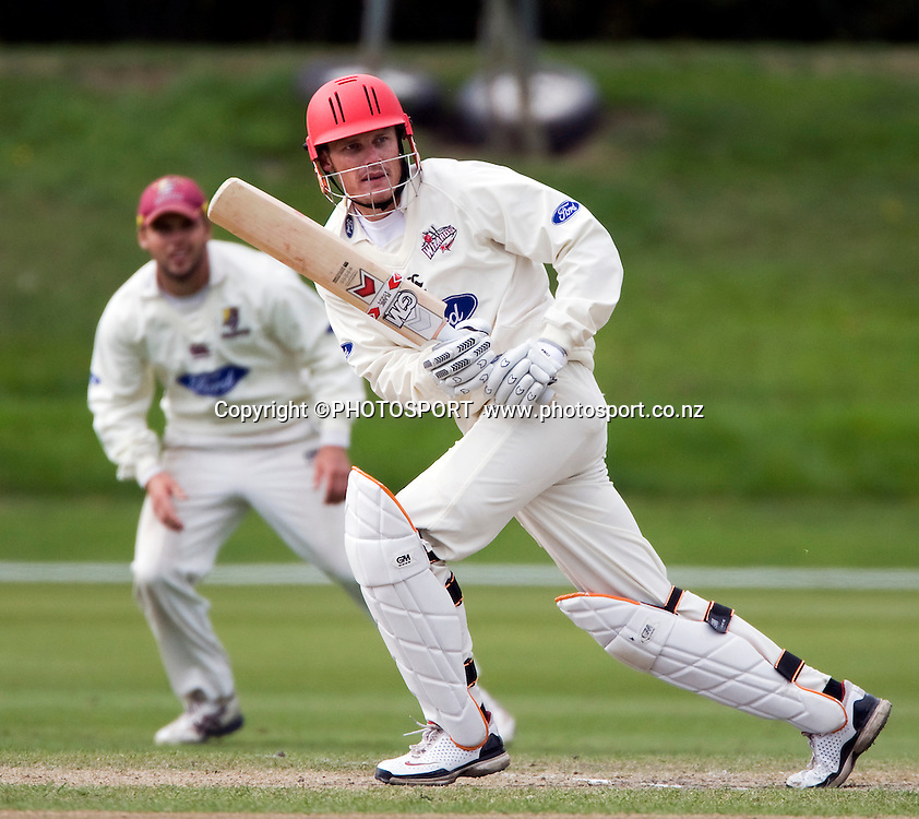 Canterbury batsmen Rob Nicol during play on the final day. Canterbury Wizards v Northern Knights, Plunket Shield Game held at Mainpower Oval, Rangiora, Thursday 07 April 2011. Photo : Joseph Johnson / photosport.co.nz