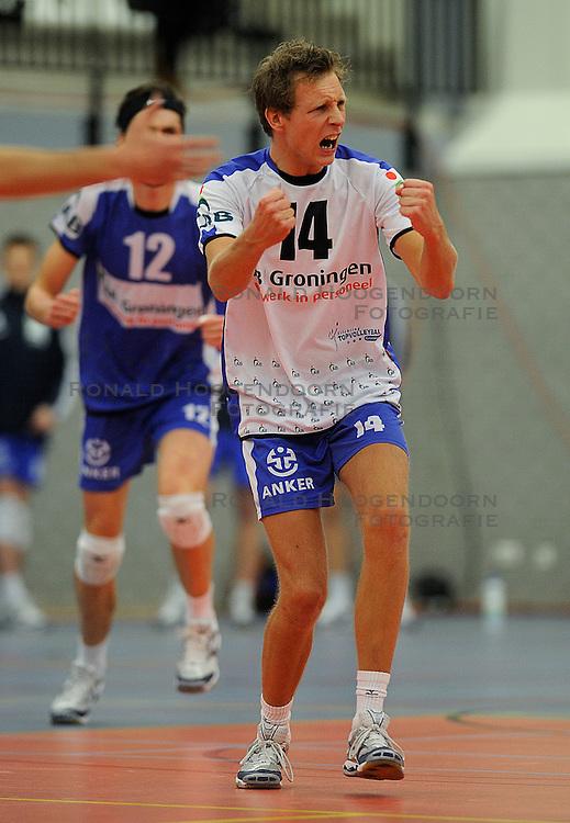 12-02-2011 VOLLEYBAL: AB GRONINGEN/LYCURGUS - DRAISMA DYNAMO: GRONINGEN<br /> In een bomvol Alfa-college Sportcentrum werd Dynamo met 3-2 (25-27, 23-25, 25-19, 25-23 en 16-14) verslagen door Lycurgus / Marcel Birza (#14)<br /> ©2011-WWW.FOTOHOOGENDOORN.NL