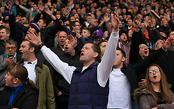 Aston Villa fans sing towards Birmingham City fans prior to kick off - Mandatory by-line: Paul Roberts/JMP - 29/10/2017 - FOOTBALL - St Andrew's Stadium - Birmingham, England - Birmingham City v Aston Villa - Skybet Championship