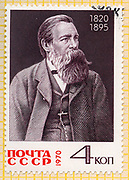 stamp printed by Russia, shows Friedrich Engels, circa 1970