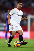 SEVILLE, SPAIN - OCTOBER 28:  Wissam Ben Yedder of Sevilla FC in action during the La Liga match between Sevilla and Leganes at  Estadio Sanchez Pizjuan on October 28, 2017 in Seville, .  (Photo by Aitor Alcalde Colomer/Getty Images)