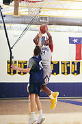 Harrison Ingram practices at St. Mark's School of Texas in Dallas, Texas on December 6, 2017. (Cooper Neill for The Undefeated)