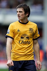 LONDON, ENGLAND - Saturday, March 3, 2012: Everton's Leighton Baines in action against Queens Park Rangers during the Premiership match at Loftus Road. (Pic by Vegard Grott/Propaganda)