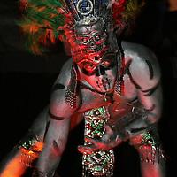 Toluca, Mex.- Espectaculo Aztec performance en una discoteca de la ciudad. Agencia MVT / Mario Vazquez de la Torre. (DIGITAL)<br /> <br /> NO ARCHIVAR - NO ARCHIVE