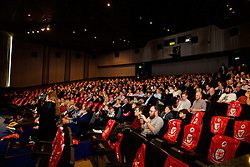 LONDON, ENGLAND - Monday, February 27, 2017: The audience at the premier of Don't Take Me Home - the incredible true story of Wales' Euro 2016 at the Vue Cinema in Leicester Square. (Pic by David Rawcliffe/Propaganda)