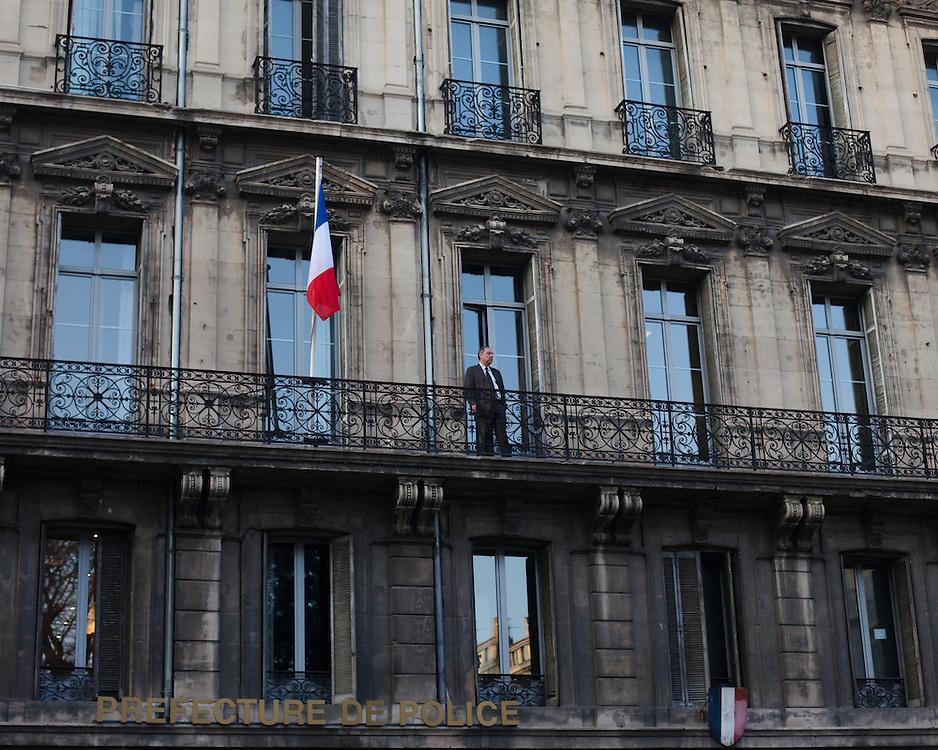 Petite pause au Balcon de la préfecture de Police.