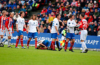 Fotball, Eliteserien, 31052004, Alfheim Stadion i Tromsø, Tromsø IL (TIL) - Vålerenga (VIF) 2-0, TILs Karim essediri til høyre<br /> FOTO: KAJA BAARDSEN/DIGITALSPORT