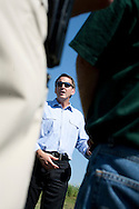 Republican presidential hopeful Tim Pawlenty campaigns on Wednesday, July 20, 2011 in Madrid, IA.
