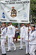 Australian Navy clearance divers from HMAS Cairns marching during ANZAC Day parade 2010.