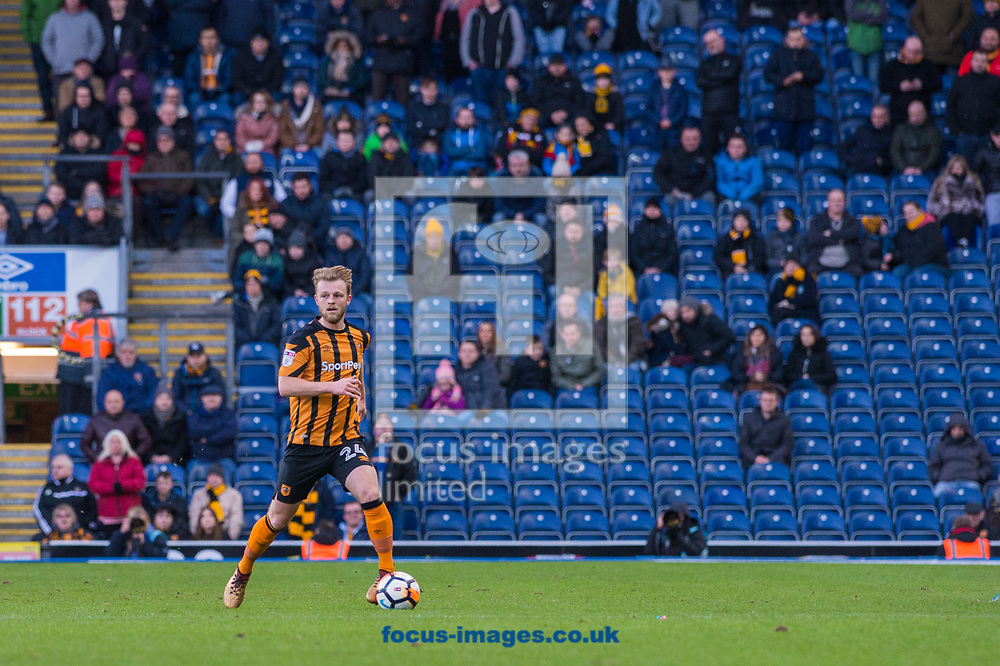 Max Clark of Hull City pushes forward during the FA Cup match at Ewood Park, Blackburn<br /> Picture by Matt Wilkinson/Focus Images Ltd 07814 960751<br /> 06/01/2018