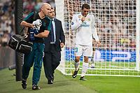 Real Madrid's Mateo Kovacic injured during UEFA Champions League match between Real Madrid and Apoel at Santiago Bernabeu Stadium in Madrid, Spain September 13, 2017. (ALTERPHOTOS/Borja B.Hojas)