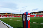 Doncaster Rovers Stadium before during the EFL Sky Bet League 1 match between Doncaster Rovers and Barnsley at the Keepmoat Stadium, Doncaster, England on 15 March 2019.