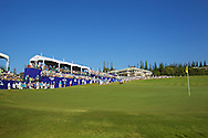 January 12 2015: Eighteen green during the Final Round of the Hyundai Tournament of Champions at Kapalua Plantation Course on Maui, HI.