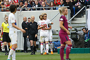 Camille Abily to OL and Kheira Hamraoui to OL during the UEFA Women's Champions League, semi final, 2nd leg football match between Olympique Lyonnais and Manchester City on April 29, 2018 at Groupama stadium in Décines-Charpieu near Lyon, France - Photo Romain Biard / Isports / ProSportsImages / DPPI