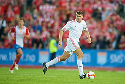 OSLO, NORWAY - Wednesday, August 5, 2009: Liverpool's captain Steven Gerrard MBE in action against FC Lyn Oslo during a preseason match at the Bislett Stadion. (Pic by David Rawcliffe/Propaganda)