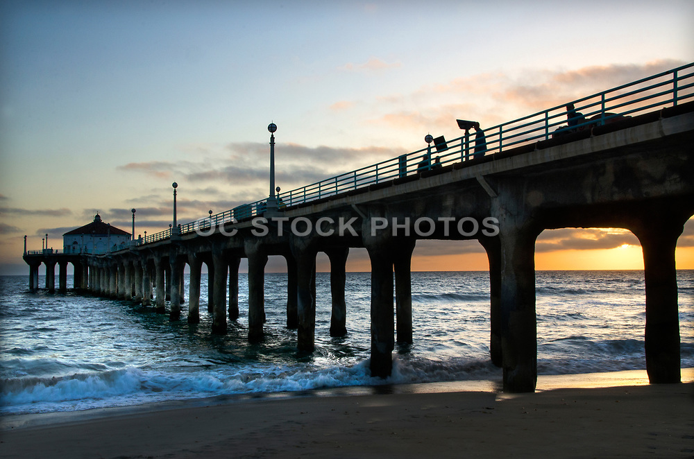 Manhattan Beach Pier at Sunset