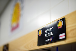Henry Slade of Exeter Chiefs peg prior to kick off - Mandatory by-line: Ryan Hiscott/JMP - 14/04/2019 - RUGBY - Sandy Park - Exeter, England - Exeter Chiefs v Wasps - Gallagher Premiership Rugby