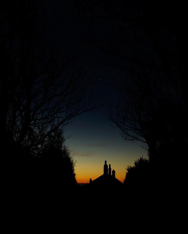 A Dawn walk in Cornwall to the beach to photograph the sunrise. Perranuthnoe.