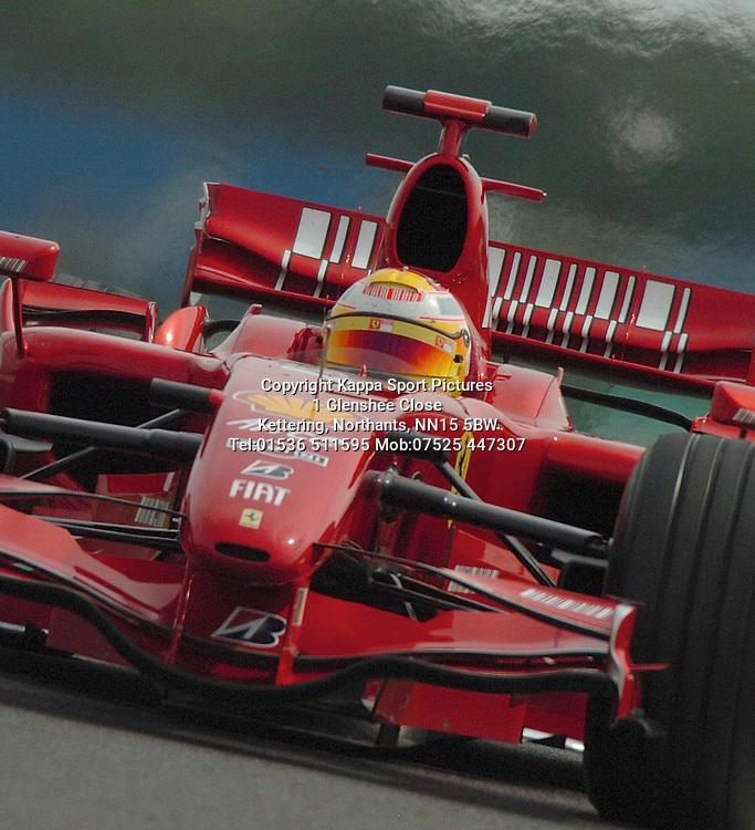 LUCA BADOER Ferrari Formula One Test Silverstone June 2007 :Photo:Mike Capps