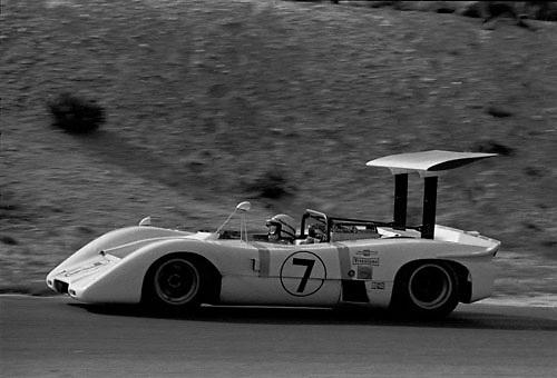 John Surtees, Chaparral McLaren M12, at 1969 Bridgehampton Can-Am; Photo by Pete Lyons 1969/ © 2014 Pete Lyons / petelyons.com