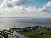 Nederland, Friesland, Stavoren, 16-04-2012; Starum of Staveren, haven en jachthaven. Voormalige Hanzestad,  een van de Friese elf steden..Small Frisian harbour town at IJsselmeer. .luchtfoto (toeslag), aerial photo (additional fee required).foto/photo Siebe Swart
