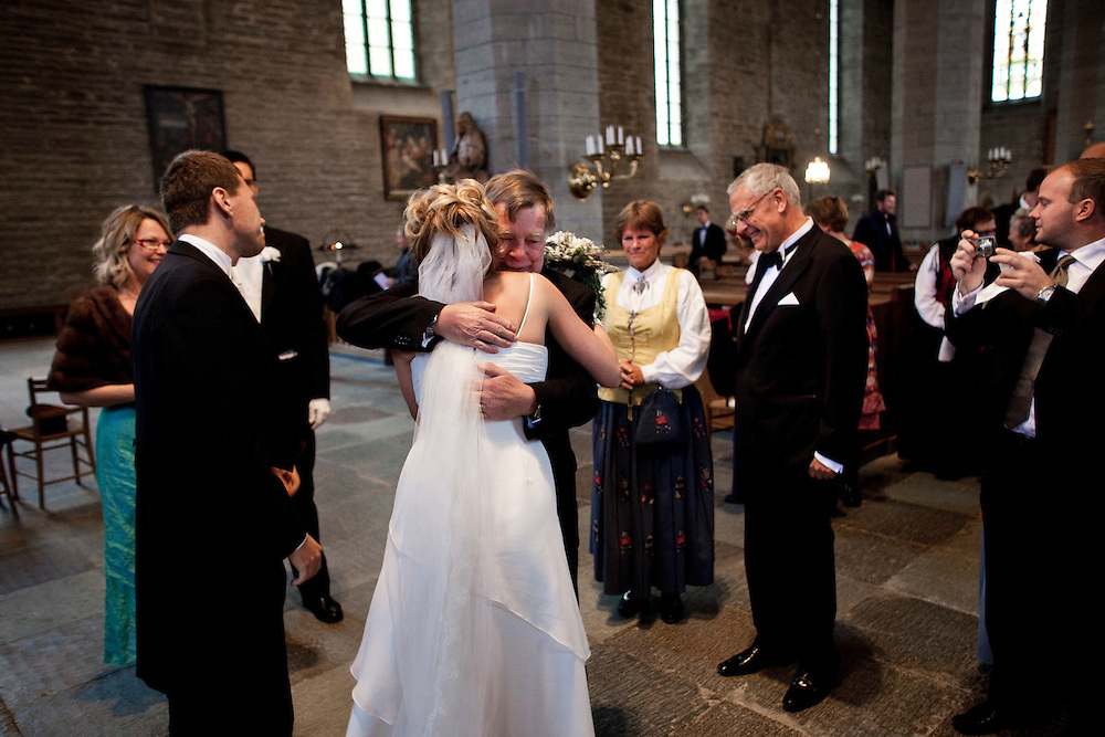 Chris and Ragnhild's wedding .Klosterkykan,  Vadstena, Sweden.Photos by Joakim Roos /MOMENT